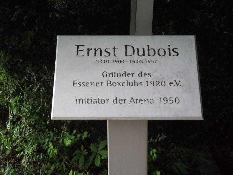 Dubios Arena Schaukasten/Gedenktafel, Schloßstr.