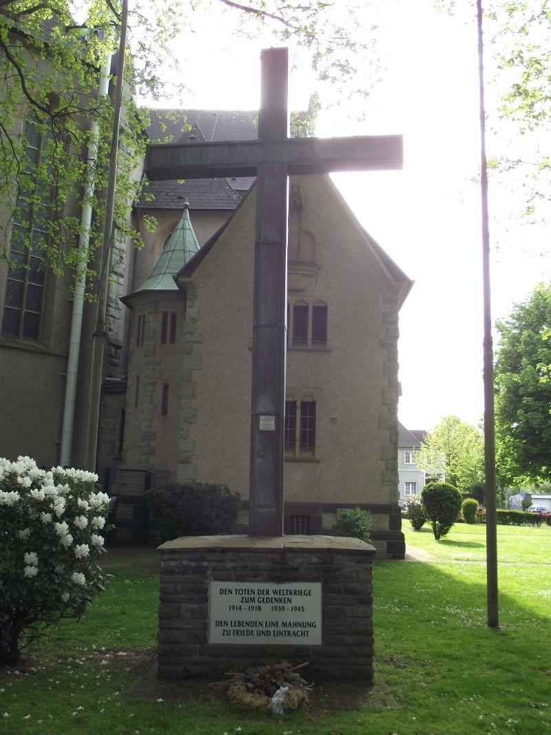 Gedenktafel am Mahnkreuz , Langhölterweg