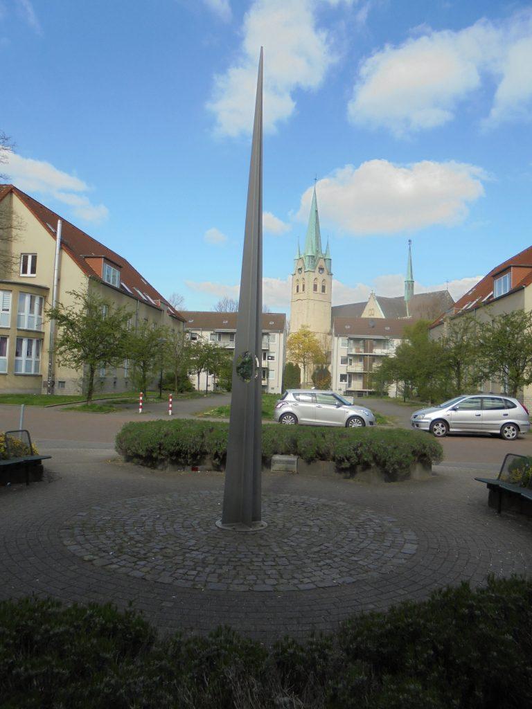 Wohnpark Kraienbruch, Stele/Infotafel, Rheinhold-Unterberg-Weg 12