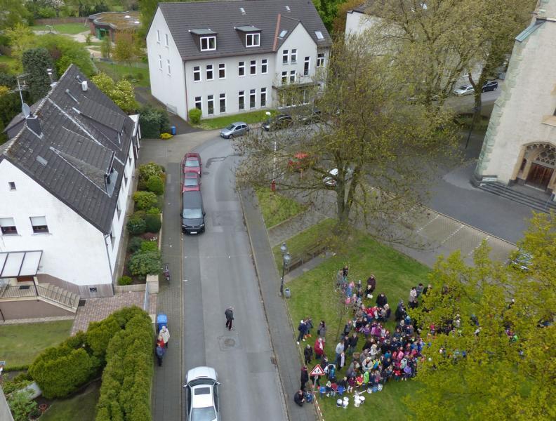Blick aus 25 Meter Höhe au den Langhölterweg